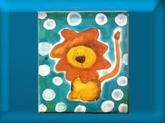 For Boy Lion on Safari small canvas painting. I am in love with Safari animals for the nursery.
