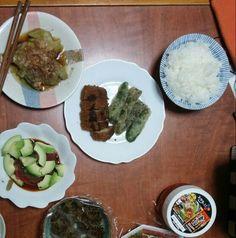 9月29日(月) 晴れ 焼き茄子 マグロとアボカド うすかつ ゴーヤ キムチ 62.4