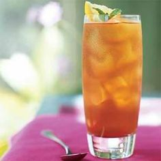 Lemon verbena infuses the lightly sweetened iced tea with sunny citrus flavor. You can also use the fragrant syrup to enliven cocktails or moisten pound cake.
