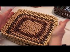 Paper Basket Weaving, Newspaper Basket, Master Class, Two By Two, Make It Yourself, Rainbow, Youtube, Paper Basket, Hampers