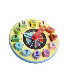 Look at this #zulilyfind! Shape-Sorting Clock by Melissa & Doug #zulilyfinds