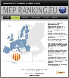 """Aneu a www.mepranking.eu/state.php.  """"El millor observatori qualificador d'activitat de la UE"""". Cliqueu Catalunya. Qualificada com Estat."""