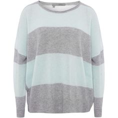 360 Sweater Skylar Striped Cashmere Sweater ($300) ❤ liked on Polyvore featuring tops, sweaters, shirts, blusas, multi coloured, stripe shirt, multi colored striped shirt, striped cashmere sweater, cut loose shirt and multi color striped shirt
