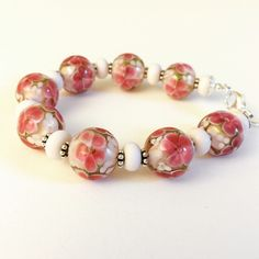 Lampwork bracelet handmade by me😊