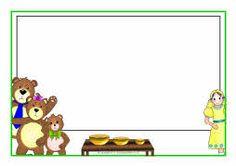 ... :Goldilocks3Bears on Pinterest   Bears, Page borders and Bear mask