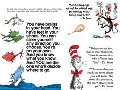 Dr. Seuss Printable Quotation Poster by Rebecca Craps is a document that may be printed in various sizes and hung in the classroom or used in stude...