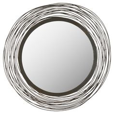 Add a stylish touch to your entryway or living room gallery wall with this lovely mirror, showcasing an iron-wrapped frame.   Produ...