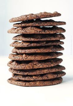 Double Dark Chocolate Cookies – The Healthy Version | Recipe | Dark ...