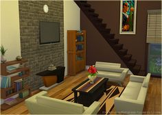 """My very first Living Room decoration in Sims 4  """"House Mediterana"""""""