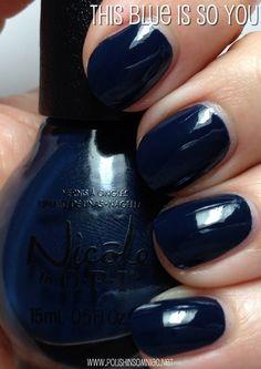 Nopi this blue is so you Opi Nails, Nail Manicure, Nail Polishes, Solid Color Nails, Nail Colors, Fall Lips, Nicole By Opi, Sassy Nails, Finger Nail Art