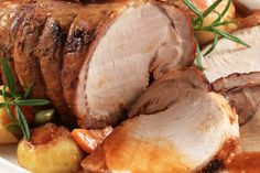 Slow Cooker Pork Roast with Apples - This Roast is ALWAYS YUMMY!  www.GetCrocked.com