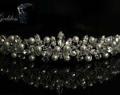 Bridal Tiara made with Swarovski Crystal Beads, Rhinestones and Pearls