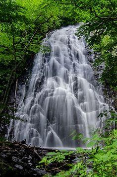 Waterfalls In North Carolina, North Carolina Resorts, Western North Carolina, North Carolina Mountains, Nc Waterfalls, Beautiful Waterfalls, Beautiful Landscapes, Craggy Gardens, Waterfall Trail