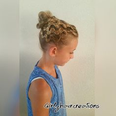 It is going to be hot today so Britt wanted her hair up. With some #cghrickrackbraid