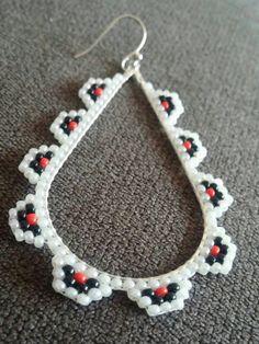 Native hand- beaded earrings.
