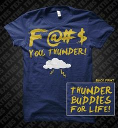 Thunder Buddies from TED!!! I have to have this shirt!!! LMAO