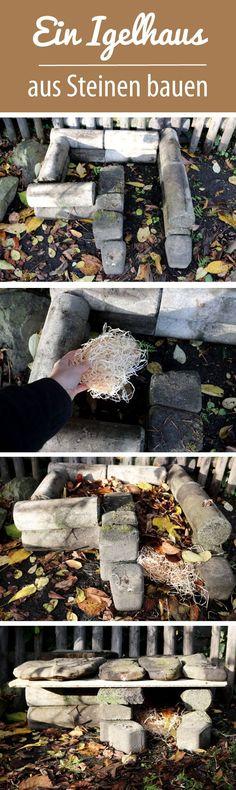 Build a hedgehog house out of stones DIY - love of green-Ein Igelhaus aus Steinen bauen A Hedgehog, Hedgehog House, Most Beautiful Gardens, Amazing Gardens, Terrariums Diy, Decoration Plante, Patio Plants, Diy Garden Projects, Diy Patio
