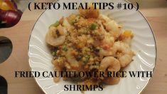 I bought cauliflower rice from the store and it turns out to be a tasty keto dinner for me and my husband. Shrimp And Rice, Cauliflower Fried Rice, Keto Meal, Keto Dinner, Meal Ideas, Keto Recipes, Food Porn, Tasty, Meals