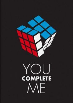 Clever sci-fi Valentine's Day cards Rubiks Cube Algorithms, You Complete Me, Whatsapp Wallpaper, Cube Puzzle, E Cards, Valentine Day Cards, Mobile Wallpaper, Nerdy, Sci Fi
