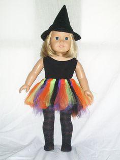 18' American Girl Halloween Tutu Outfit by Emilysdollcloset, $20.00