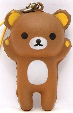 brown Rilakkuma bear squishy cellphone charm kawaii $4.98