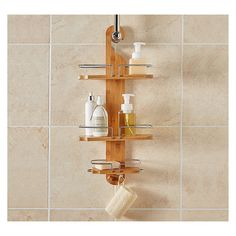 Bamboo Shower Caddy ($31) ❤ Liked On Polyvore Featuring Home, Bed U0026 Bath · Bamboo  Bathroom AccessoriesBath AccessoriesBathroom ...