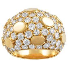 Van Cleef & Arpels Gold Diamond Ring   1stdibs.com