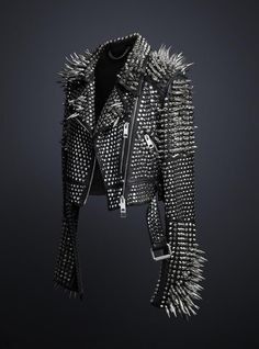 Spiked Leather Jacket by Burberry! Avant-Garde Glam! I'M IN LOVE!!! The studded leather jacket designed exclusively by Chief Creative Officer Christopher Bailey