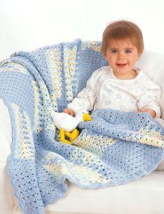 Yarnspirations.com - Easy level Lily Baby Blanket - Free Patterns    Yarnspirations