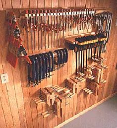 Clamp rack...... a guy never has enough clamps.