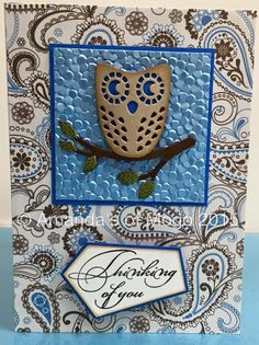 Owl and paisley card #amandasofmogo #mogo #handmade #cardmaking #papercraft #diecut #artdecocreations