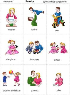Kids Pages - Family 1