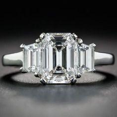 Emerald-Cut 1.61 Carat Diamond Ring