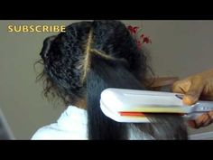▶ How to Straighten Naturally Curly Hair on Kids w/No Chemicals - YouTube
