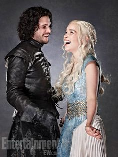 Look at the way he's looking at her. They're obviously in love. | Let's Pretend These Are Daenerys Targaryen And Jon Snow's EngagementPhotos