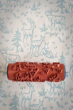 These patterned paint rollers from The Painted House, based in the UK, come in a range of different designs . Each design roller is reusable