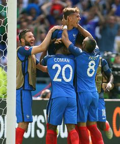 #EURO2016 Antoine Griezmann of France celebrates after he scores a goal to make it 21 during the UEFA EURO 2016 Round of 16 match between France and Republic...