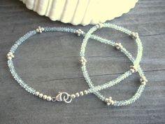 Aquamarine+And+Sterling+Silver+Necklace+by+2di4jewelryoriginals,+$91.00