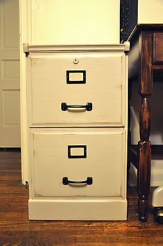 Refurbish a Filing Cabinet - paint all of it, change hardware?