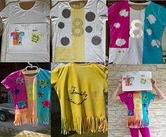 Geburtstagsshirt für die Minimonster-Party, mit Sprühfarbe und Stoffmalstiften gestaltet nach eigenem Entwurf des Geburtstagskinds