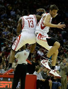 Two of my favorite basketball players: James Harden and Chandler Parsons. Fantasy Basketball, Nike Basketball, Basketball Players, Fantasy Football, Chandler Parsons, Fantasy Draft, Nba Pictures, Houston Rockets, Houston Texans