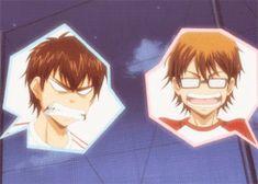 Lol Sawamura and Miyuki! Its almost as if Miyuki enjoys seeing Sawamura struggle at times!!!
