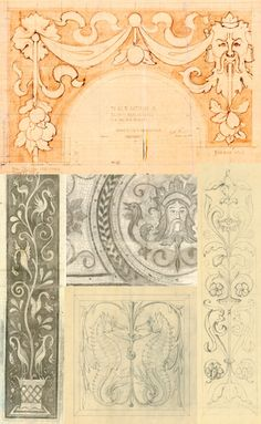 Hearst Castle Collection inspired by Julia Morgan's architectural drawings from Designamour blog