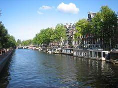 Canal next to the Hermitage Art Museum,  Amsterdam,  HOLLAND, 2012