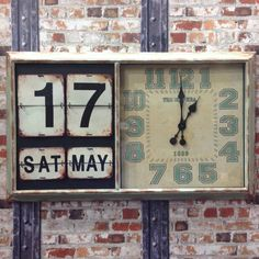 A stunning vintage style clock with calendar finished in a rustic verdi iron frame.This verdi iron frame rustic calendar clock can be easily wall mounted and will make a great addition to a kitchen, utility, conservatory or living area. Easy operation for the day and date with accurate battery operated clock (battery not included). <strong>ALL of our products:</strong> <ul> <li><strong>are brand new</strong></li> <li><strong>have NEVER been out on display</strong></li> <li><strong>are ...