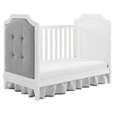 www.target.com p baby-relax-luna-upholstered-crib-white-gray - A-51789222