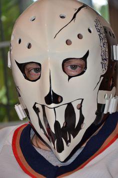 "Charlestown Chiefs- Denis Lemieux goalie mask with personalized movie quote & signature of Yvon Barrette (Denis Lemieux""). 'Slap Shot' 1977"