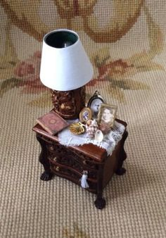 Table Stand Dressed 1:12 Dollhouse Miniature