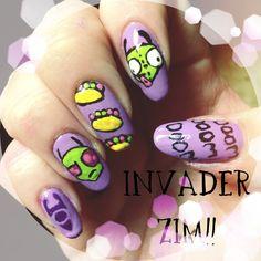 Invader Zim Nails