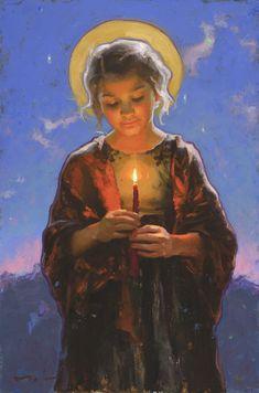 """My Little Light , 16x10"""", oil on canvas"""